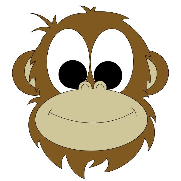 600x600 Monkey Face Clipart 3