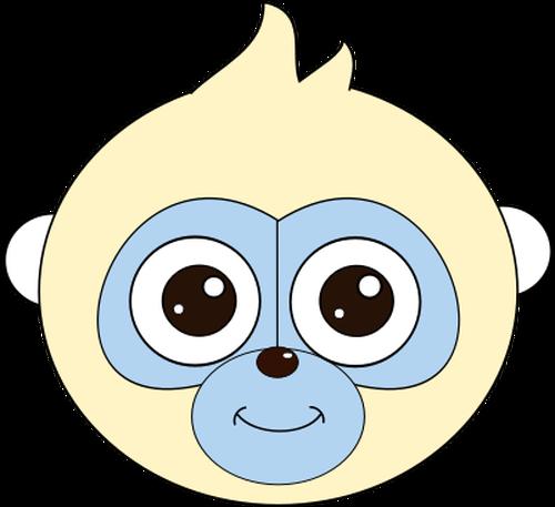 500x457 Monkey Head Vector Clip Art Public Domain Vectors