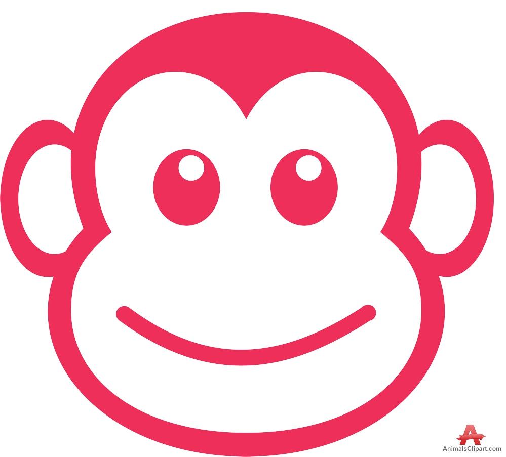 999x903 Outline Monkey Face Logo Design Free Clipart Design Download