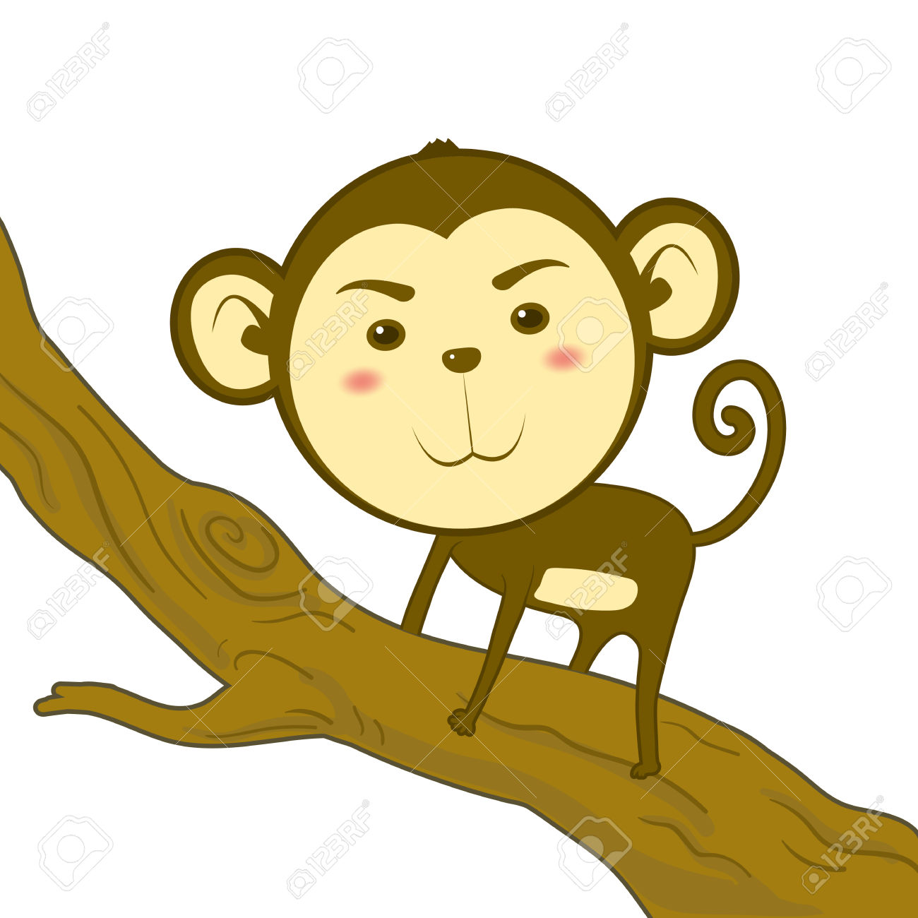 1300x1300 Climbing Tree clipart monkey