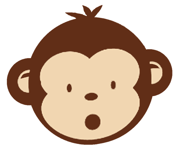 600x512 Clip art of cute monkeys