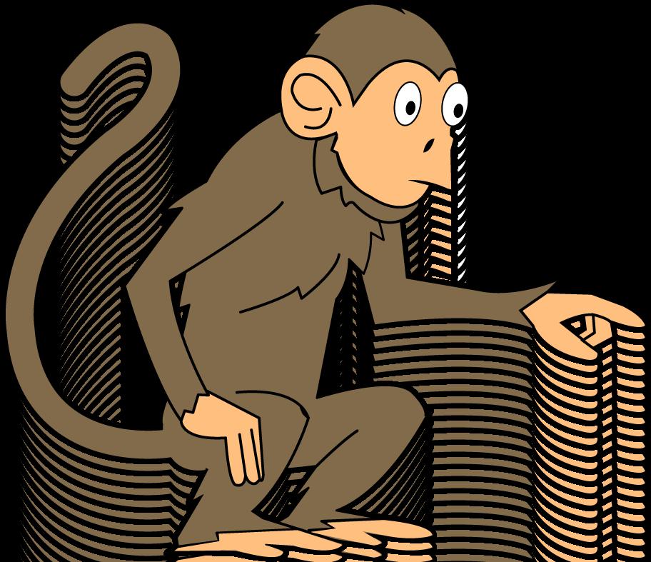 912x787 Clipart monkey