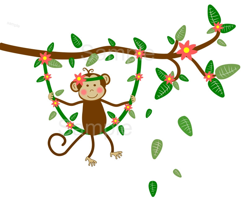 800x685 Jungle Monkey Clipart