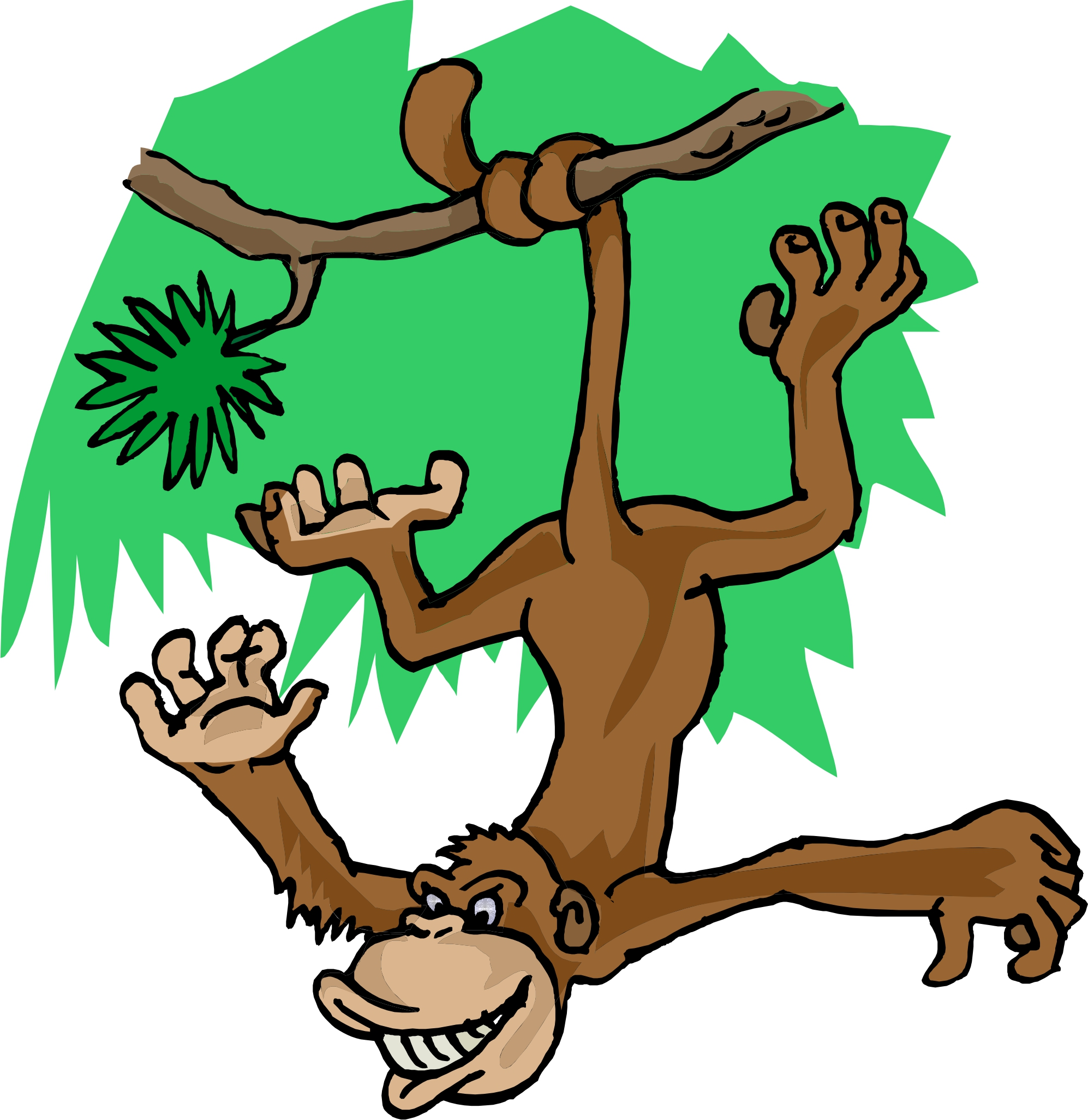1994x2051 Monkey In Tree Clipart