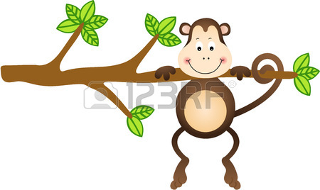 450x268 Monkey In Varying Positions Royalty Free Cliparts, Vectors, And