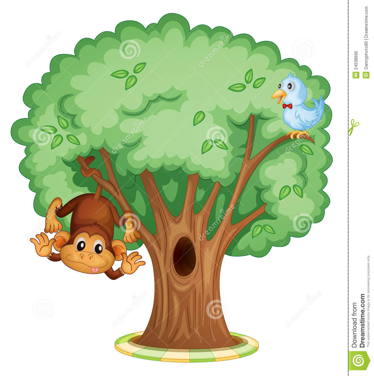 1293x1300 Monkey On Tree Clipart