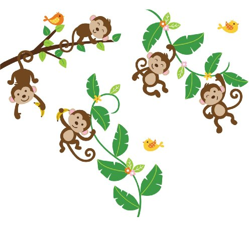 500x450 Monkey Swinging on a Vine Clip Art (23+)