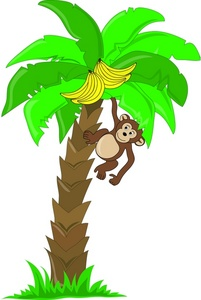 201x300 Tree clipart monkey