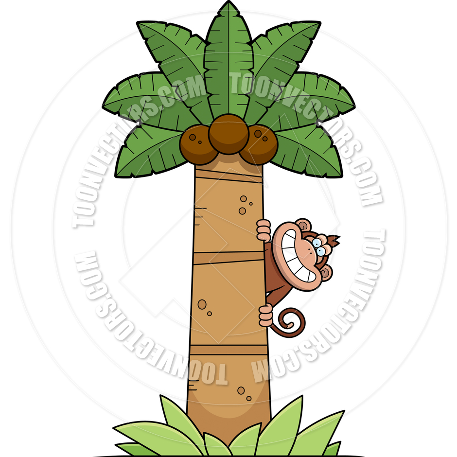 940x940 Cartoon Monkey Tree by Cory Thoman Toon Vectors EPS