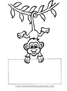 236x318 Monkey Gone Bananas Coloring Page Printables For Kids Free