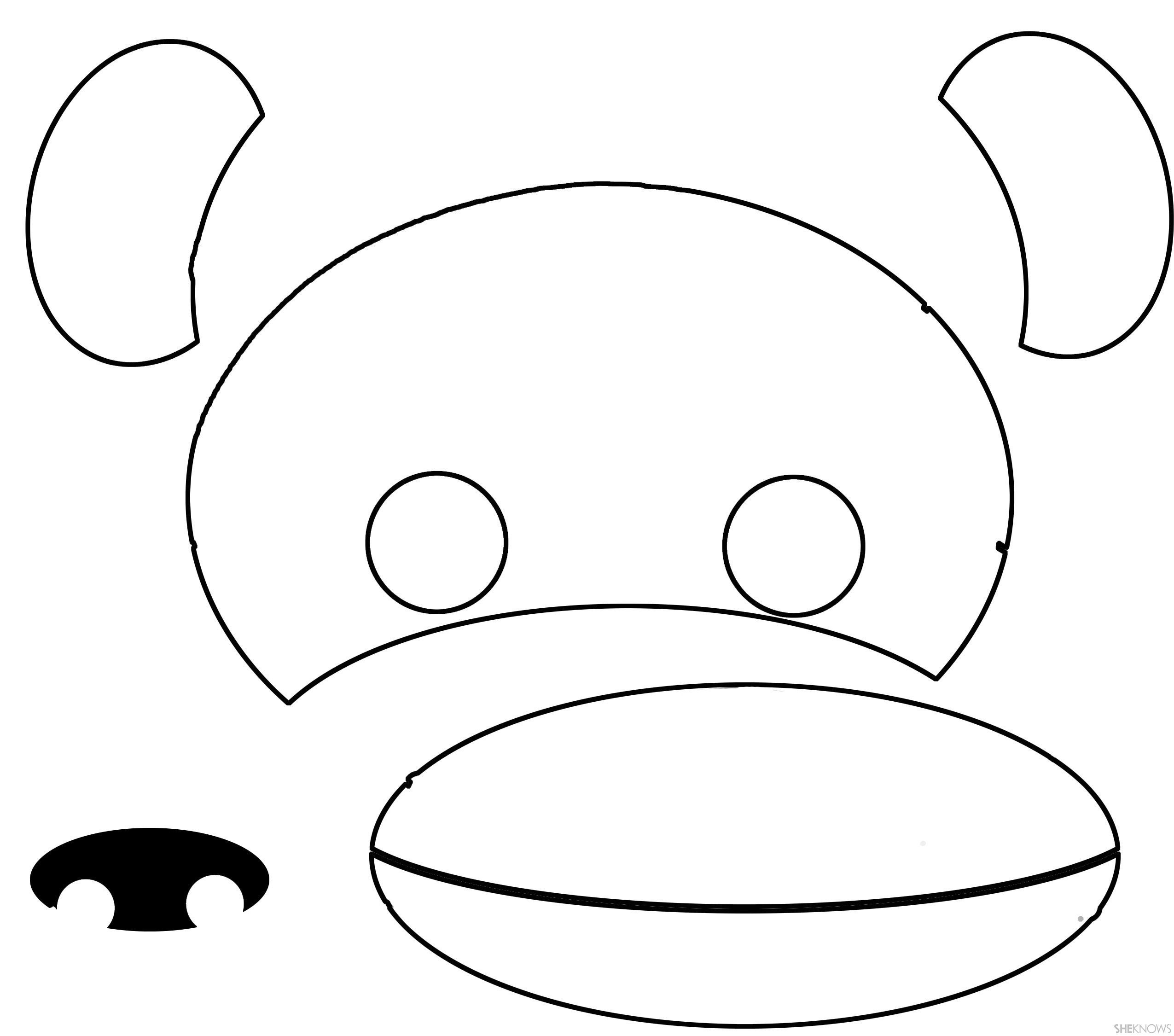 This is a photo of Nifty Monkey Mask Printable