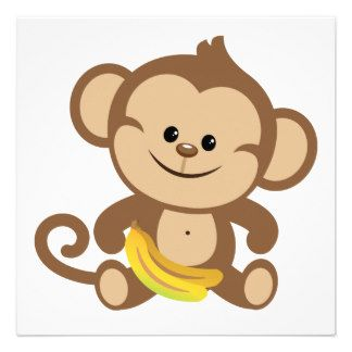 Monkey With Banana Clipart