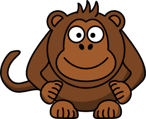 297x243 Cartoon Monkey Clip Art