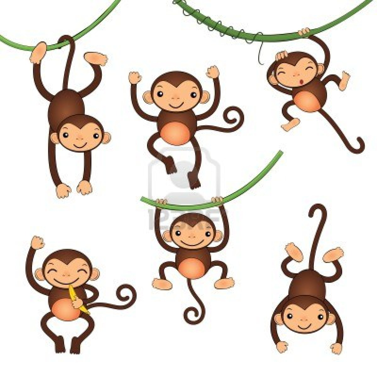 1200x1200 Spider Monkey Clipart Happy Cartoon