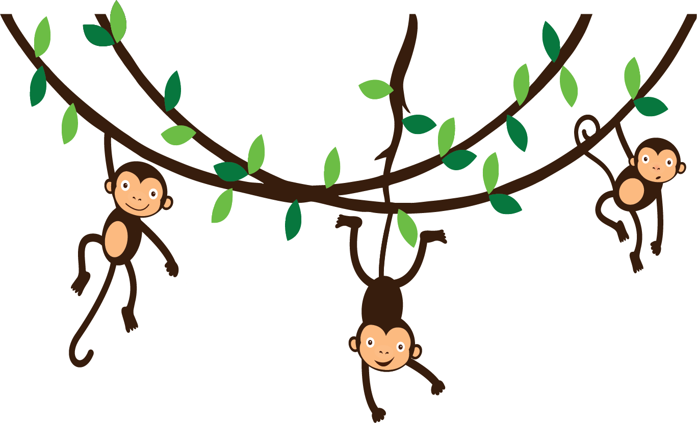 1367x830 Swinging Monkey Clipart
