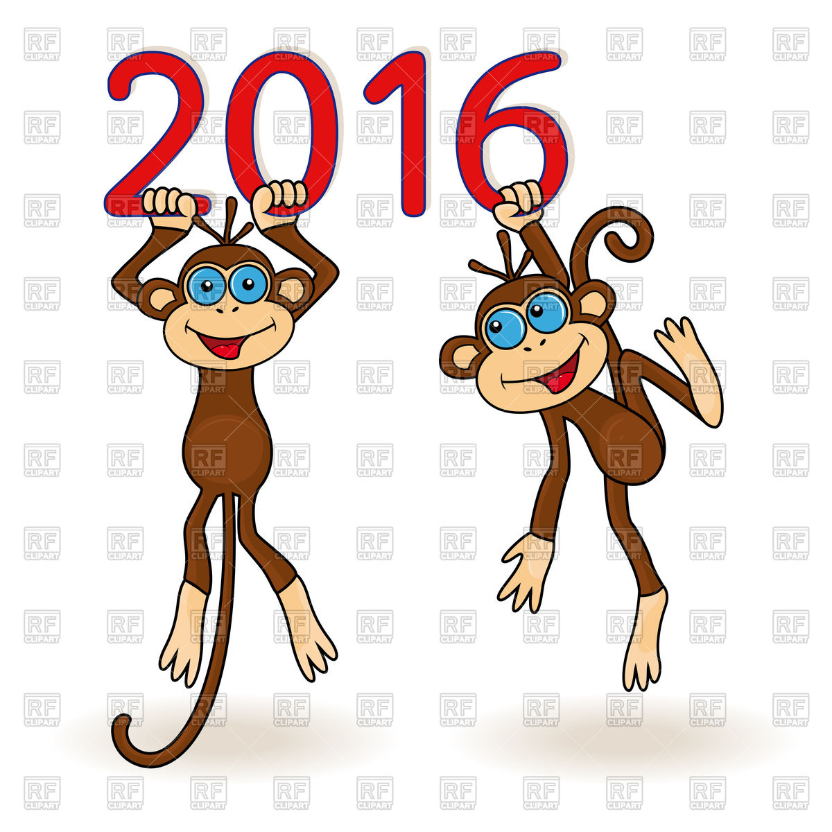 1200x1200 Two Funny Monkeys