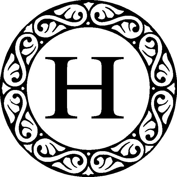 594x596 Letter A Monogram Clip Art