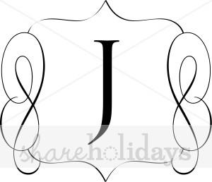 300x258 Classic Monogram J Monogram Letters