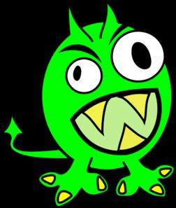 252x297 Lime Green Monster Clip Art