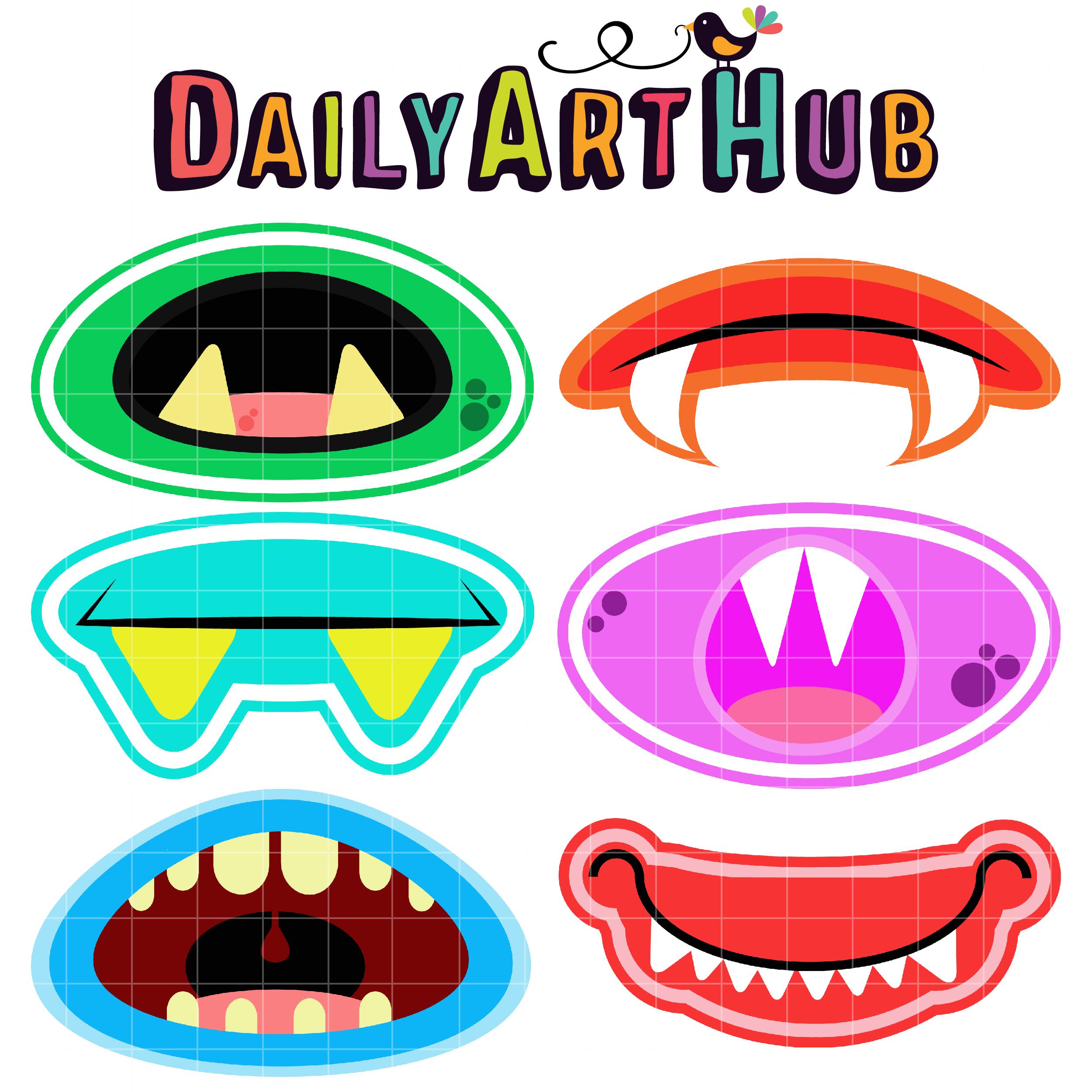 2500x2500 Monster Mouths Clip Art Set Daily Art Hub