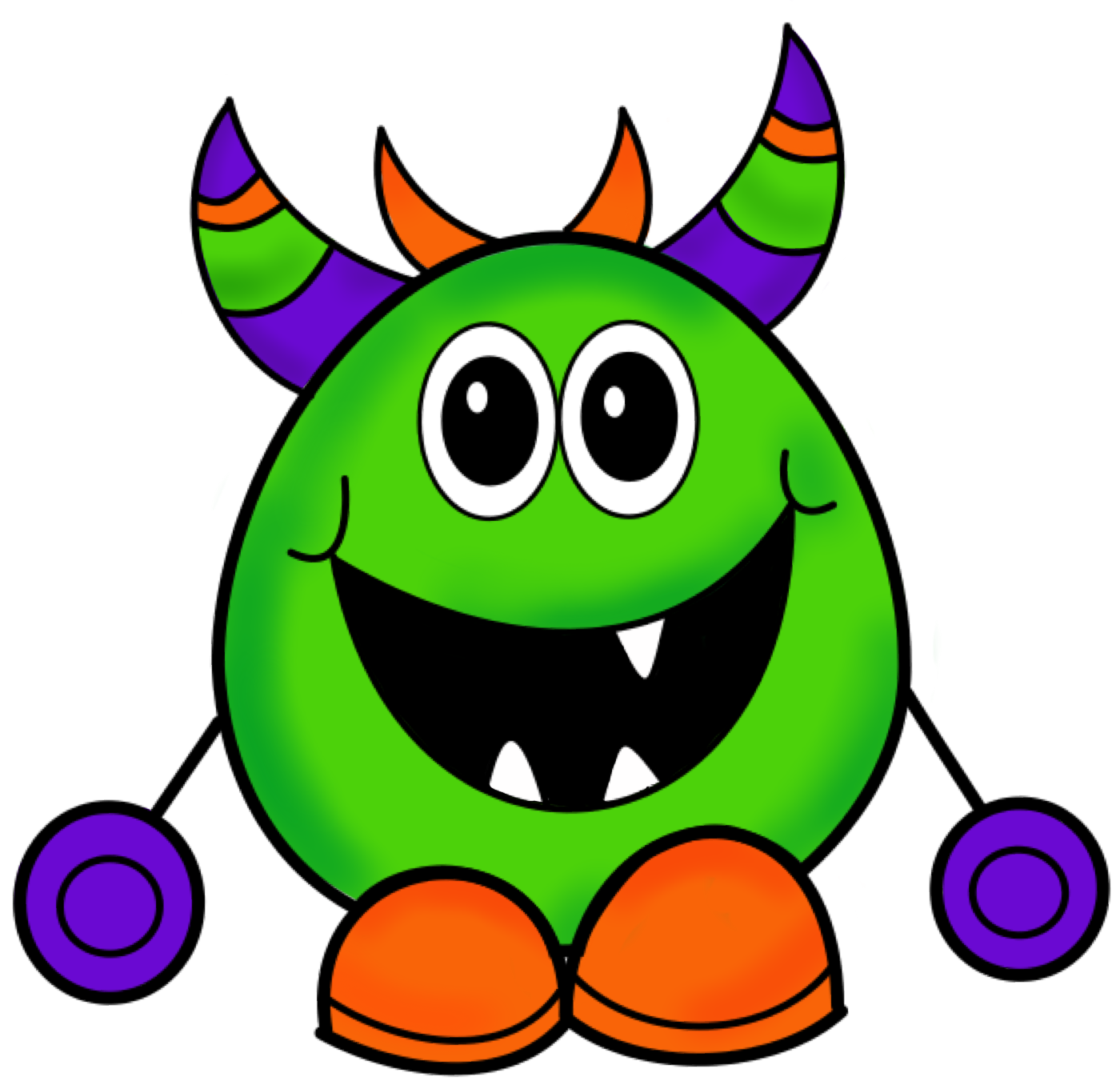 1400x1361 Monster Clip Art To Download