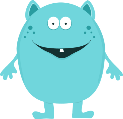 410x396 Cute Monster Clip Art