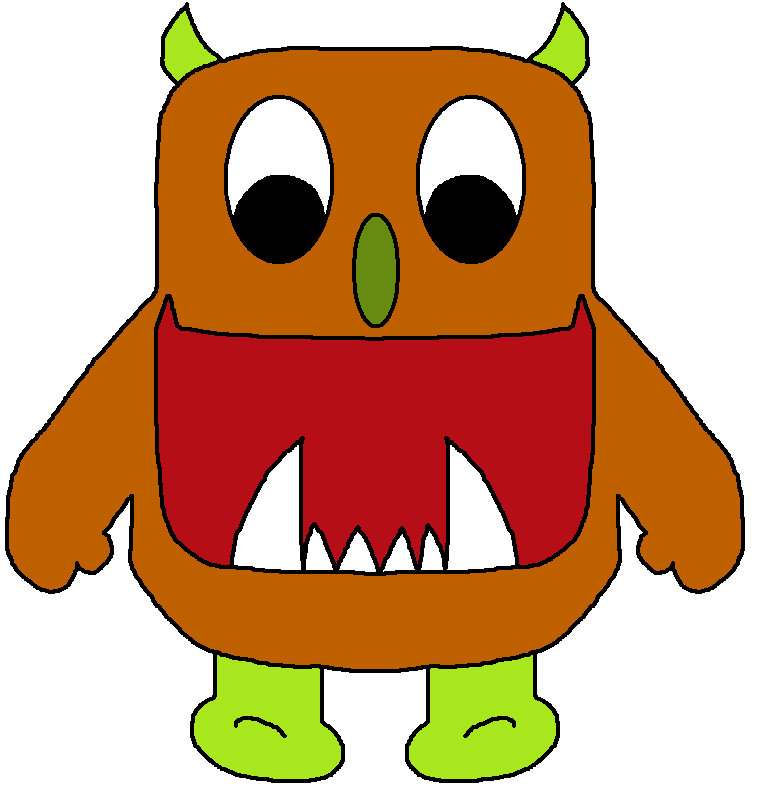 757x797 Free Cute Monster Clip Art Blue Image