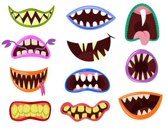 570x459 Monster Mouth Clip Art Monster Clipart Halloween Clipart