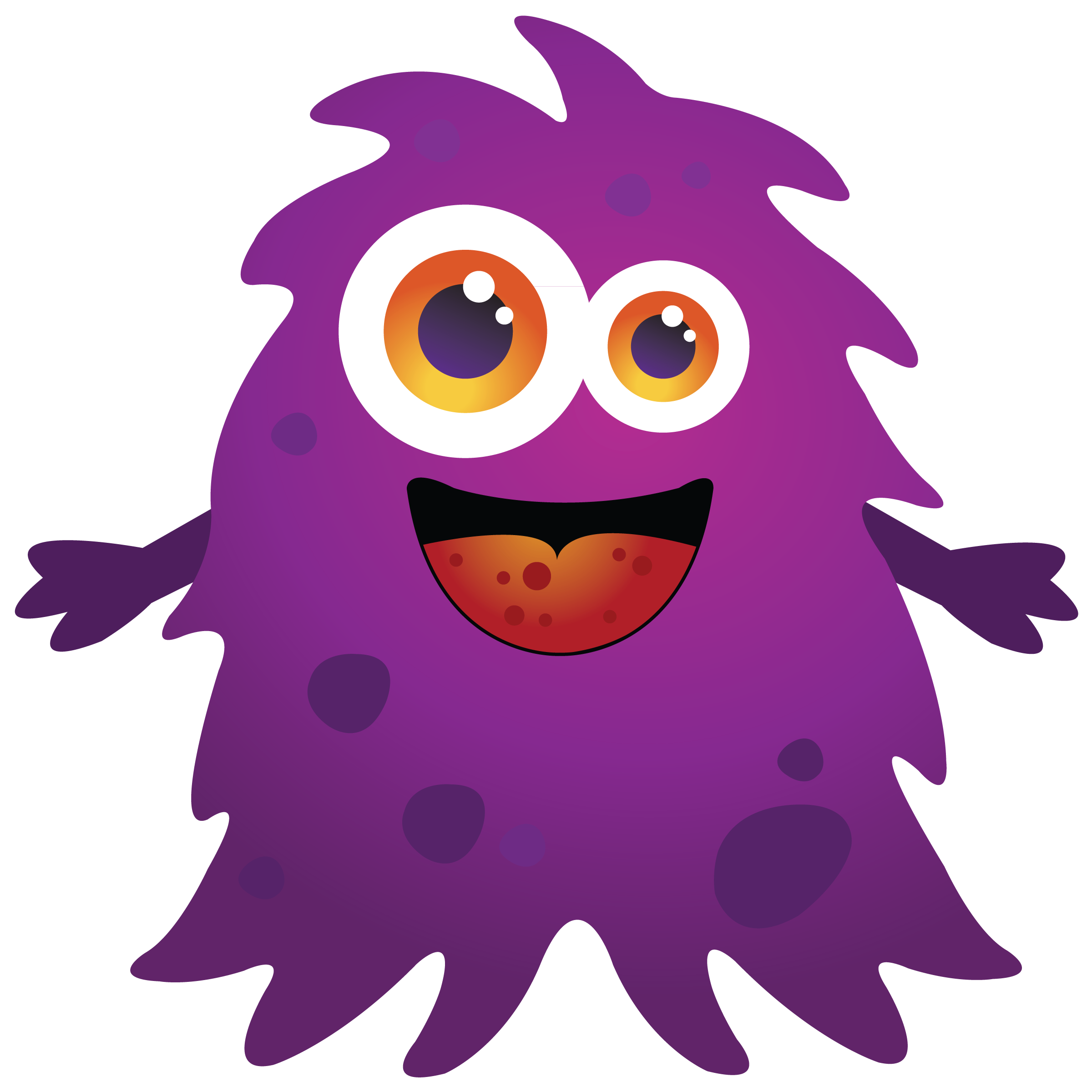 2400x2400 Purple Cartoon Monster Clipart Free Clip Art Images Clipart Kid