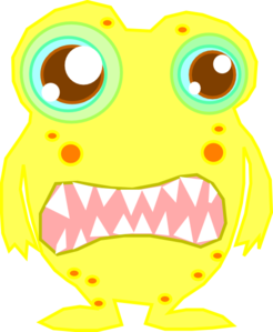 246x299 Yellow Monster Clip Art