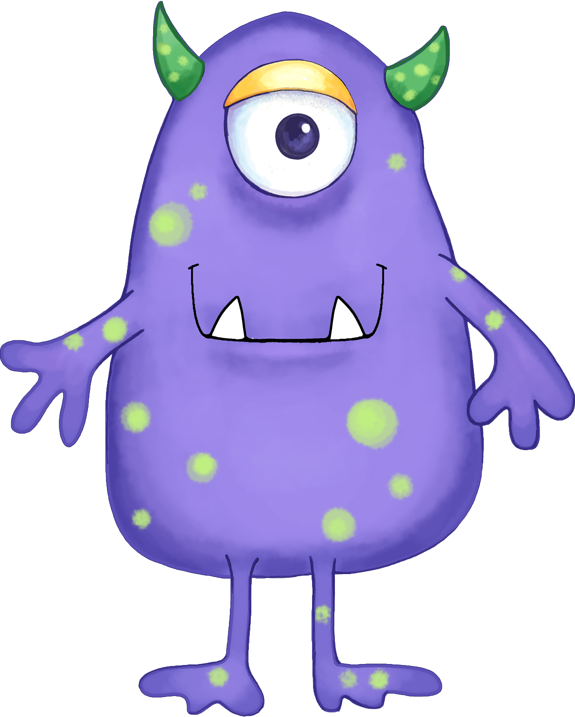 1183x1475 Your Free Art Cute Blue, Purple And Green Cartoon Alien Monsters