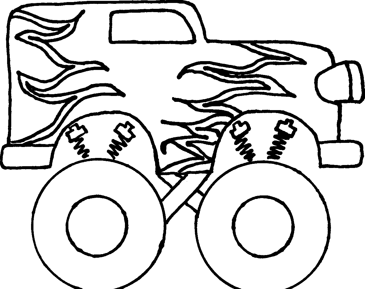 1233x979 Truck Black And White Monster Truck Clipart Black And White Free