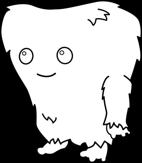 479x550 Black Amp White Clipart Monster