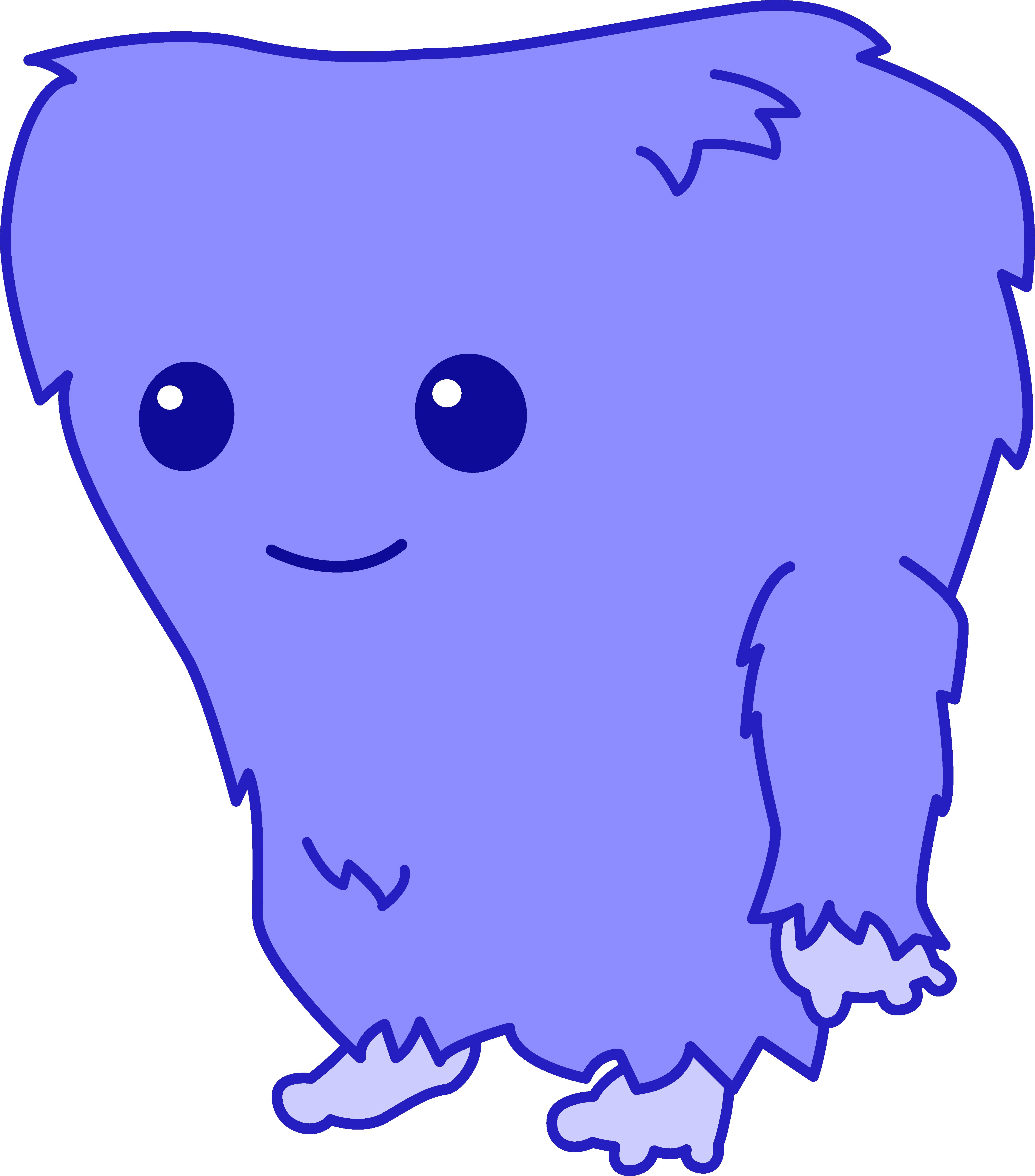 4812x5470 Cute Fuzzy Blue Monster