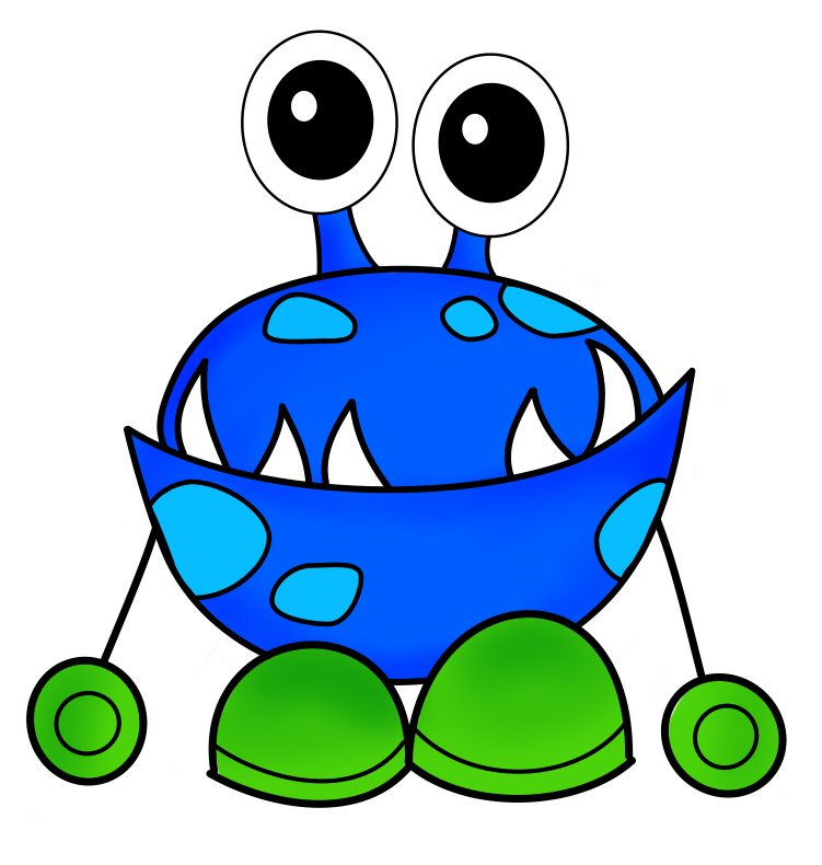 751x790 Free Cute Monster Clip Art Silly Image Green 2