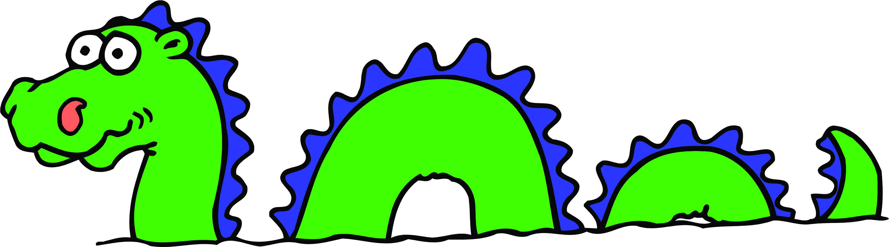 3392x945 Loch Ness Monster Clipart