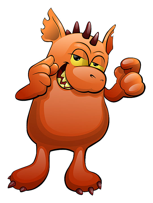 540x715 Monster Clipart Animated