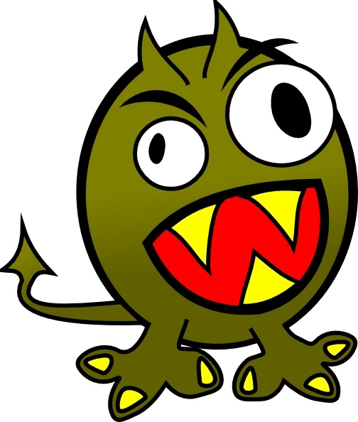 504x594 Small Funny Angry Monster Clip Art Free Vector In Open Office