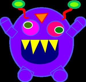 300x288 Blue Monster Clip Art