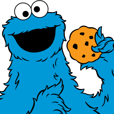 397x397 Cookie Monster Clipart Transparent
