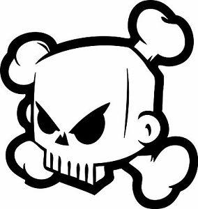 284x300 Skull Logo Ken Block Vinyl Cut Sticker Decals 150x160mm Monster