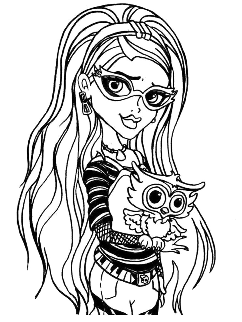 800x1062 Ghoulia Yelps Monster High Coloring Page