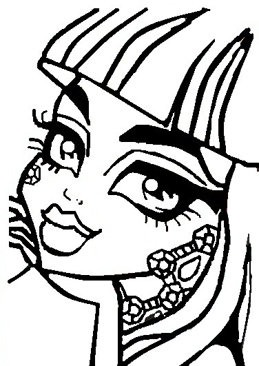376x531 Monster High Coloring Page By Rini12