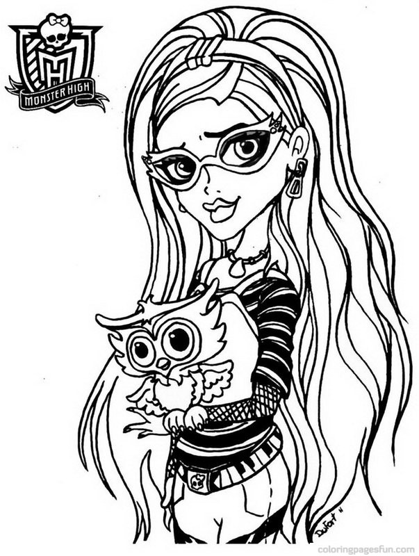 603x800 Monster High Coloring Pages 21 Free Printable
