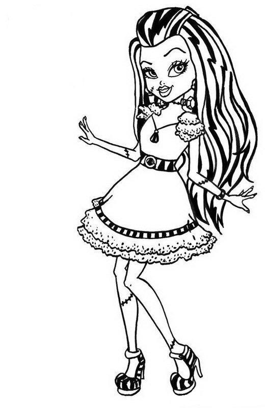 520x800 Monster High Coloring Pages We Try To Give A Little Information