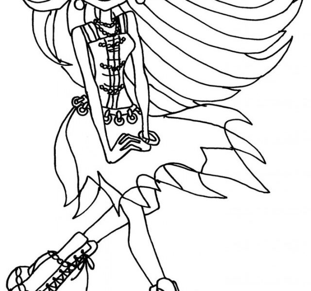 640x600 Monster High To Color Free Printable Monster High Coloring Pages