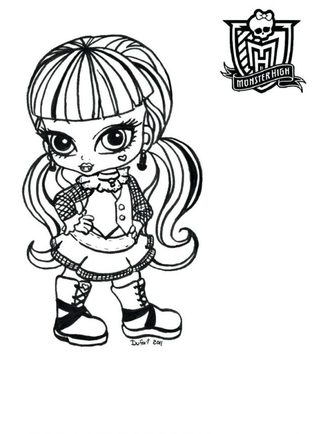 618x859 Stein Coloring Pages 54 Marvelous Monster High Frankie Baby
