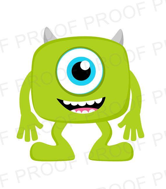 570x651 Cute Mike Wazowski Monster Inc Clipart