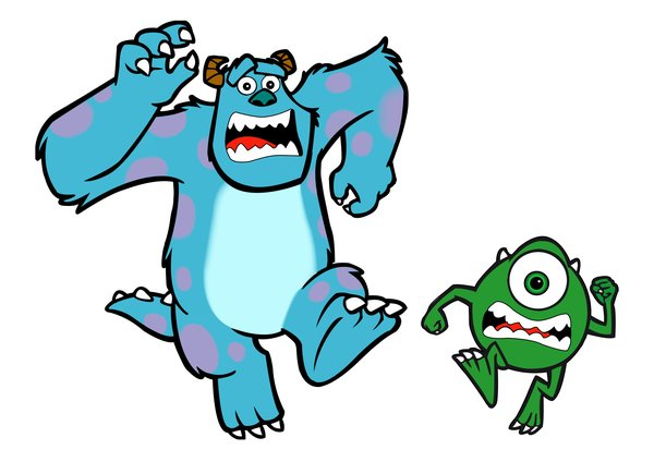600x424 Monster Inc By Marchalarts