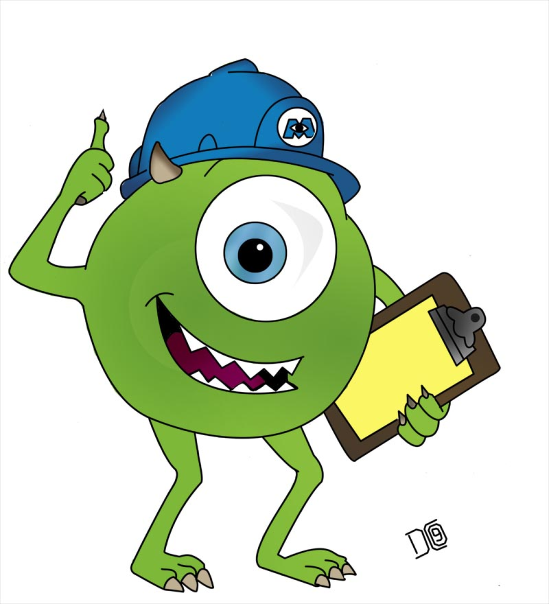 800x880 Work Monsters Inc Clipart